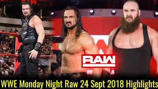 WWE Monday Night Raw 24 September 2018 Highlights ! WWE Raw 9/24/18 Highlights
