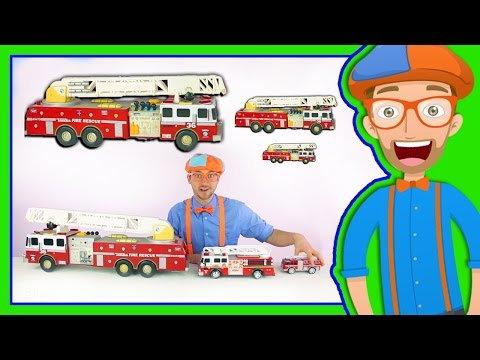 Xxx Mp4 Learn Sizes With Fire Trucks Blippi Toys Smallest To Biggest 3gp Sex