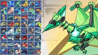 Dino Robot Ptero Green: Assembly + Battlefield | Eftsei Gaming