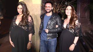 Pregnant Kareena Kapoor At Manish Malhotra's Birthday Party 2016 By Karan Johar