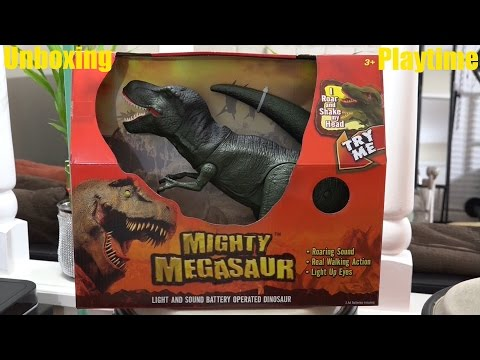 Dinosaur Toys for Kids Mighty Megasaur T REX with Lights & Sounds Unboxing