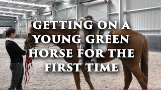 Getting On a Young Green Horse For The First Time - FearLESS Friday TV Ep 32