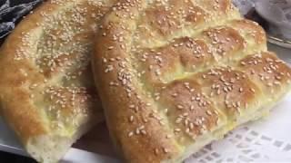 الخبز تركي بمكونات سهله وسريعه ويستحق التجربه