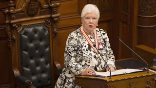 Ontario Lt.-Gov. Elizabeth Dowdeswell delivers throne speech.