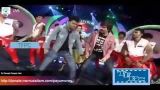DSP and Geetha Madhuri performing Gongura Thota song from venky movie   Memu Saitam For Vizag Hudhud