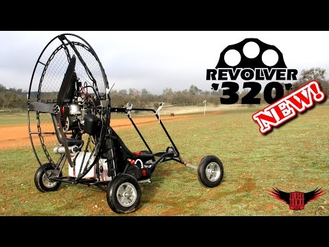 BlackHawk REVOLVER 320 Paramotor Review & Demo NEW 2015 44hp Powered Paraglider