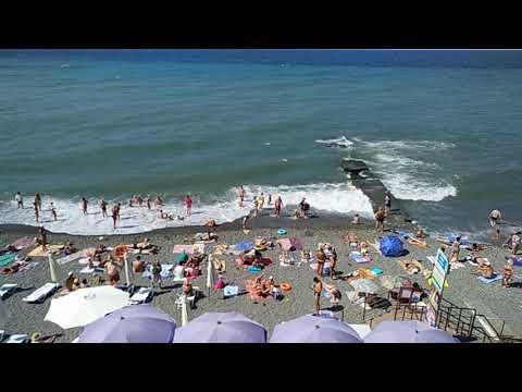 Адлер, пляж с балкона отеля Аррива(2)
