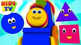 Shapes Train   Bob The Train Cartoons   Nursery Rhymes And Kids Songs   Kids Tv