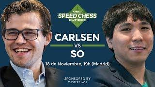 Magnus Carlsen vs Wesley So | Torneo de Ajedrez Speed Chess 2017