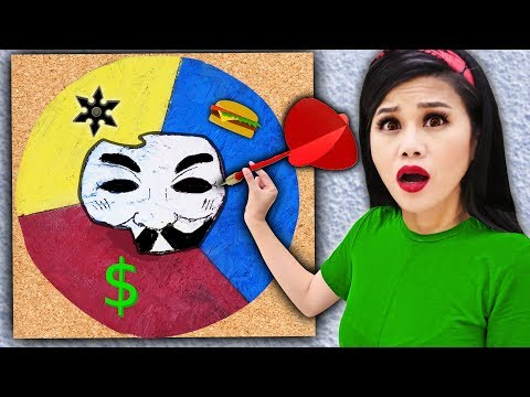 Throwing a DART at a MAP & Hacker Girl PZ4 Unmasking Whatever It Lands On Spy Ninja Challenge