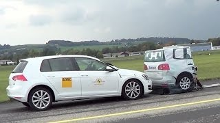 Volkswagen Golf mk7 Autonomous Emergency Braking TEST