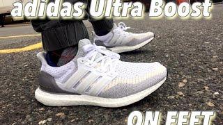 Adidas Ultra Boost Chalk On Feet