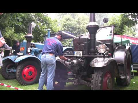 Traktor Lanz Bulldog Start starting old tractor