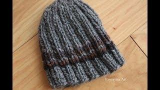 تريكو طاقية مضلعة للرجالKnit hats for men