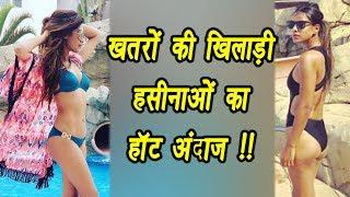 Khatron Ke Khiladi 8: Nia Sharma and Lopamudra Raut shares HOT Bikini Photos; Watch   FilmiBeat