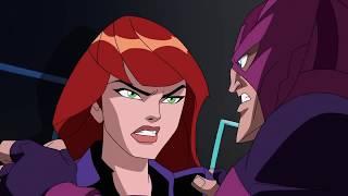 Hawkeye vs. Black Widow on Hydra Island