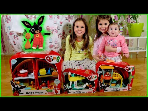 BING TOYS Giant Surprise Egg | Baby Amy Plays with Bing's Playground & Bing's House