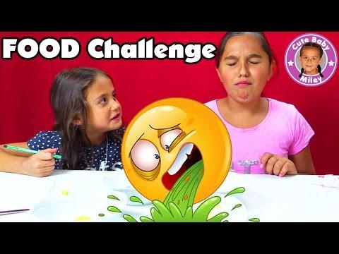 watch KIDS FOOD CHALLENGE + LUSTIGE OUTTAKES    Miley macht ohne Eltern eine Challenge    CutebabyMiley