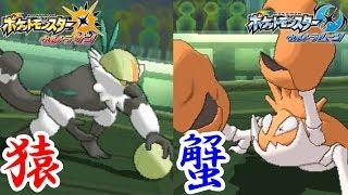 【ポケモン】猿 蟹 合 戦 。【ウルトラサン・ウルトラムーン/ポケモンUSUM】
