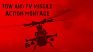 Battlefield 4 I Attack Helicopter I Tow and TV Missile Action Montage 60fps