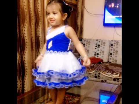 Cute little girl enjoying dancing