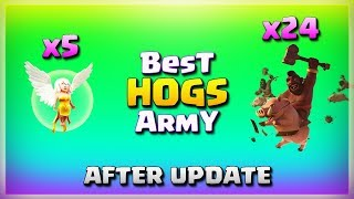 5 Healer+24 Hogs= Best HOGS Army After Update | TH11 War Strategy #163 | COC 2018 |