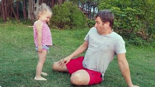 Cute Baby Laughing Hysterically after She scared Dad!