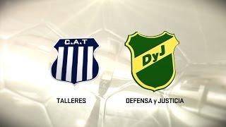 Fútbol en vivo. Talleres vs. Defensa y Justicia. Fecha 7. Torneo de Primera División 2016/2017. FPT