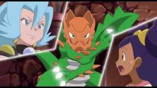 Pokemon Iris vs Clair. Dragonite vs Druddigon. (Music)