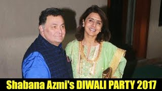 Rishi Kapoor & Neetu Singh At Shabana Azmi's Diwali Party 2017