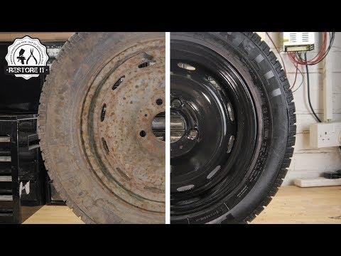 Super Rusty Spare Wheel Restoration