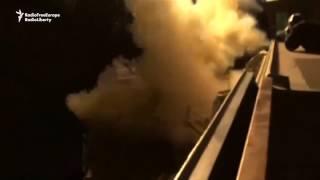 ABŞ Suriyaya raket zərbələri endirdi - Amerika gəmilərindən görüntü