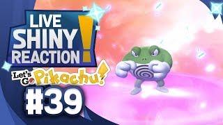 ✨SHINY POLIWRATH LIVE REACTION✨ || KANTO LIVING DEX #39 - Pokémon LGPE