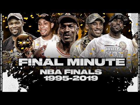 The Last Minute of the Last 25 NBA Finals 1995 2019