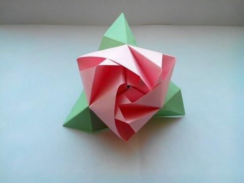 Роза из бумаги видео