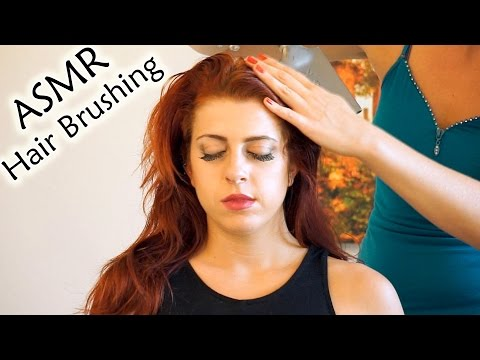 ♥ Wow! ASMR Hair Brushing, Head Massage w/ Hair Play, Soft Spoken Whisper, 3d Binaural Relaxation ♥