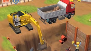 Little Builders - Construction Game - Cartoon for Children with Cement Mixer, Diggers and Cranes