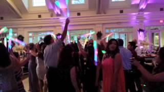 Glow wands at wedding bridgeport club house santa Clarita
