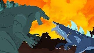 Godzilla Earth vs Zilla Jr | DinoMania - Godzilla Cartoons - NEW Episode