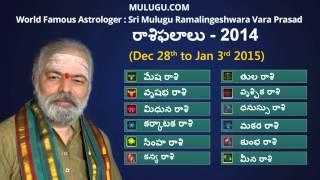 Weekly Rasi Phalalu Dec 28th - Jan 3rd 2015