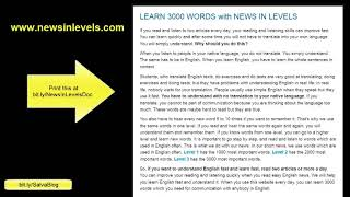 How to Use www.NewsInLevels.com