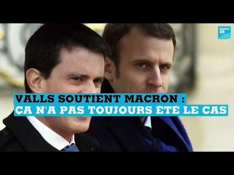 90''POLITIQUE - Valls soutient Macron : ça n'a pas toujours été le cas
