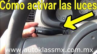 Como usar las luces de nuestro auto (V12)-AprendeaManejarDesdeCero