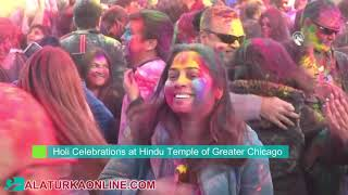 Holi Celebrations at Hindu Temple of Greater Chicago