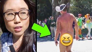 Nude Men on the Street   BAY TO BREAKERS IN SF