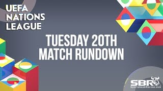 Nations League Betting and Match Predictions   Team Bankroll   Tuesday 20th November Matches