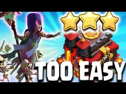 TOO EASY BEST TH10 ATTACK STRATEGY FOR WAR 2017 Clash of Clans