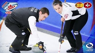Spain v Switzerland - Round-robin - World Mixed Doubles Curling Championship 2017