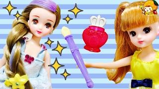 リカちゃん 新しい友達つばさちゃん❤ キラメイクにヘアアレンジで変身♪ 髪の毛サラサラで可愛いね! オシャレにヘアカラーチェンジ おもちゃ 人形 アニメ ここなっちゃん