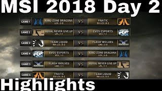 MSI 2018 Highlights Day 2 ALL GAMES | Mid Season Invitational 2018 Group Stage Highlights